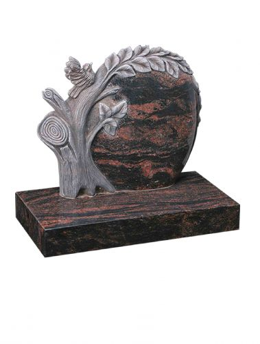 a special memorial in Indian Aurora with a special carved tree feature and a beautiful bird. BRY 158